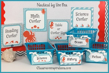 Center Labels or Signs – Editable – Nautical by the Sea Cl