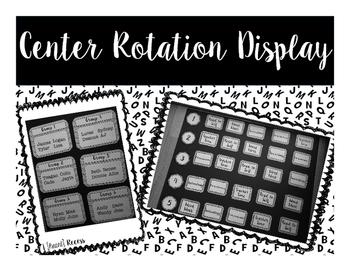 Center Rotation Display {Black & White}