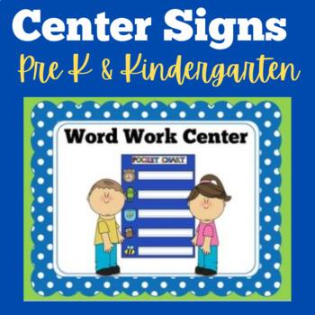 Center Signs | Kindergarten Centers | Preschool Centers |