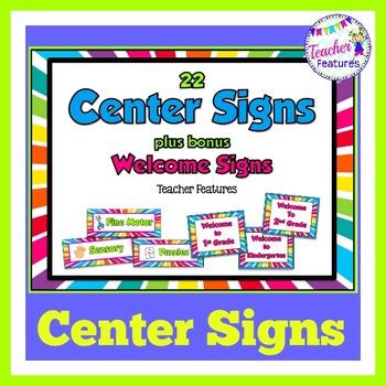 Center Signs: Rainbow