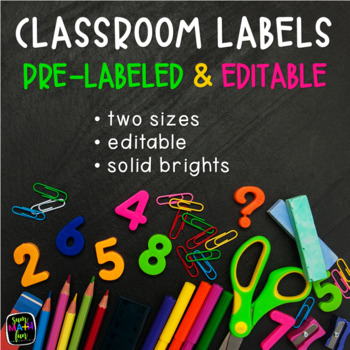 Center Signs and Labels Bright and Editable