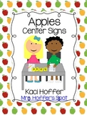 Center Signs {Apples}