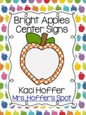 Center Signs {Bright Apple}