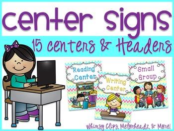 Center Signs - Bright Chevron