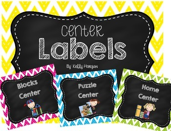 Center Signs - Chevron and Chalkboard