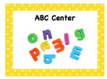 Center Signs - Large Green and Yellow Polka Dot