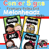 Center Signs {Primary Polka Dot Melonheadz Kids Edition} w