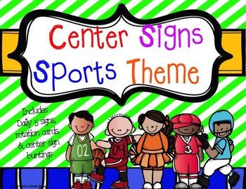 Center Signs-Sports Theme