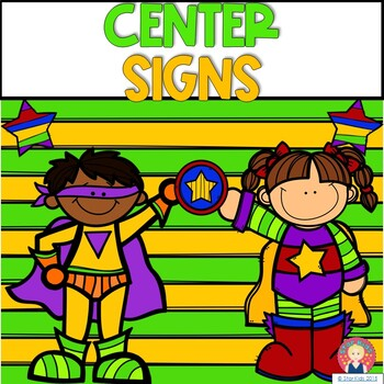 Center Signs {Super Hero Themed}