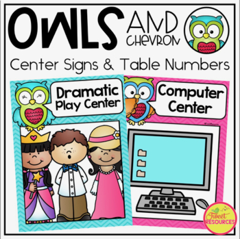 Center Signs {Owls and Chevron Decor Theme}