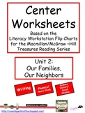 Center Worksheets for Treasures Unit 2 Reading