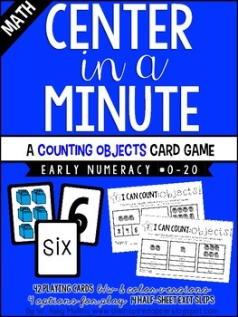 Center in a Minute {Early Numeracy}: Counting Objects