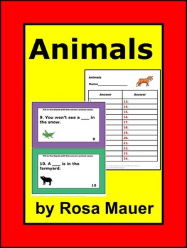 Animals Task Cards