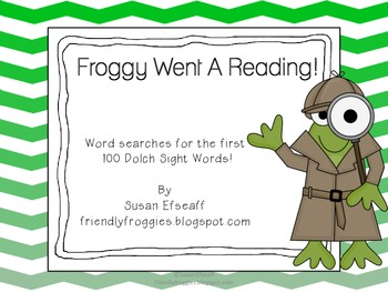 Literacy Centers - Froggy Went a Reading - Sight Word Sear