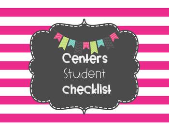 Centers Management Student Checklist