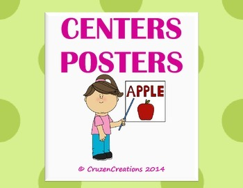 Centers Posters - Green on Green Polka Dots