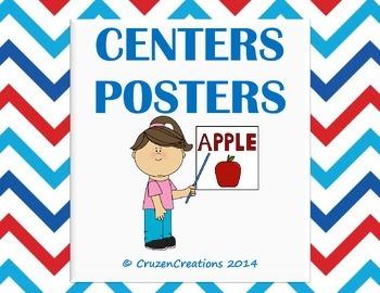 Centers Posters - Patriotic Chevron