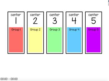 Centers Rotation Charts (editable) Bundle