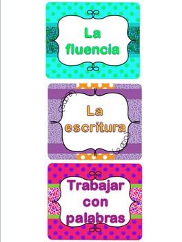 Centers Task Cards (Spanish)