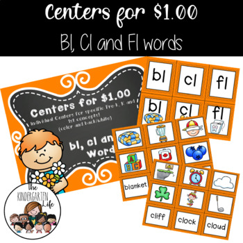 Centers for $1.00: Bl, Cl and Fl words