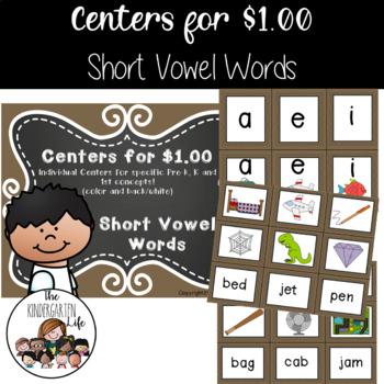 Centers for $1.00: Short Vowel Words