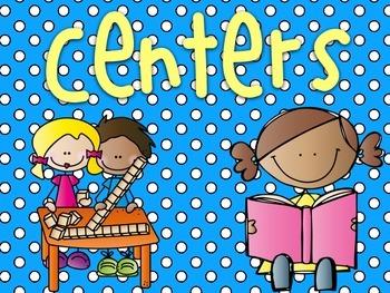 Centers for Kindergarten and 1st grade!