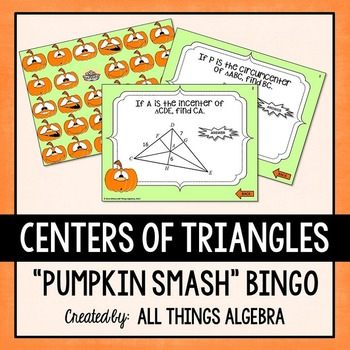 Centers of Triangles Bingo
