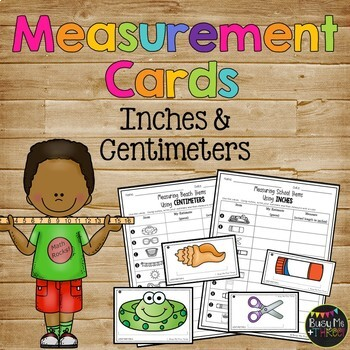 Centimeter and Inch Measurement Cards, 2nd Grade Common Co