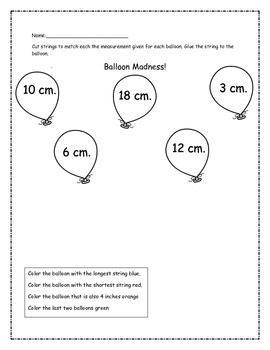Centimeter Measurement with Balloons