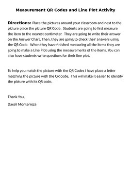 Centimeters QR Codes and Line Plot