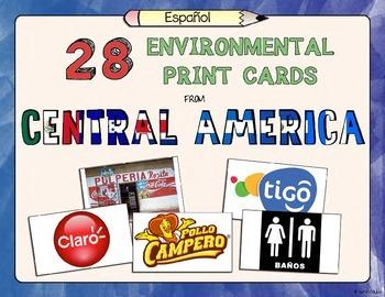 Central America Environmental Print Cards for Pre-Alphabet