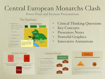 Central European Monarchs Clash PowerPoint Keynote Presentations