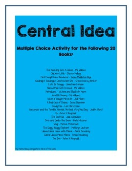 Central Idea Picture Book