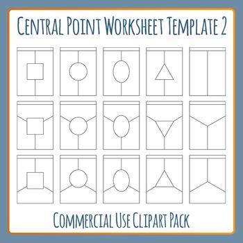 Central Point Worksheet Template 2 Clip Art Set for Commer