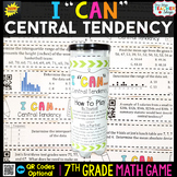 7th Grade Central Tendency & Variability of Data Game - 7t