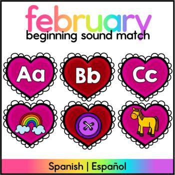 Centro de Sonidos Iniciales/ABC Letter/Sound Match Spanish