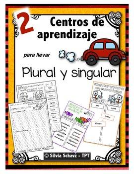 """Centros de aprendizaje en español """"PARA LLEVAR"""" - Singular"""