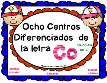 Centros de la letra C c Lectoescritura Sonido Silabas Cent