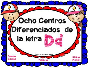 Centros de la letra D d Lectoescritura Sonido Sílabas Cent