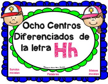 Centros de la letra H h Lectoescritura Sonido-Silabas Cent