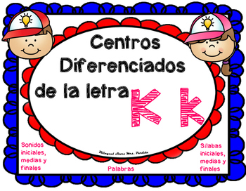 Centros de la letra K k  Lectoescritura Sonido Silabas Cen