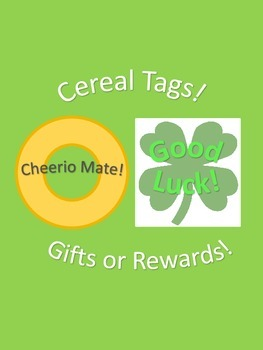 Cereal Tags for Awards, Rewards, or Gifts Lucky Charms Fro