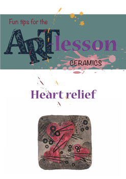 Ceramics - Heart relief