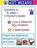 The ART of Ceramics (7 Open-Ended pages, Includes Teachers Guide)