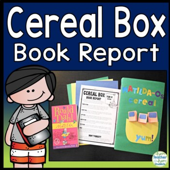 Cereal Box Book Report: Directions, Rubric & Example Photos
