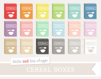 Cereal Box Clipart; Breakfast
