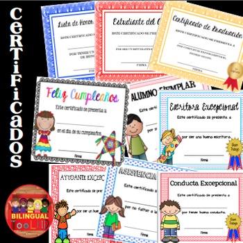 Certificados para todo el Año / Certificates for all Year