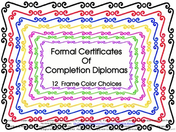 End of Year Graduation Certificate, Award or Diploma of Co