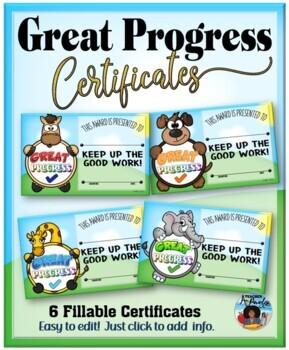 Certificates – Great Progress Awards