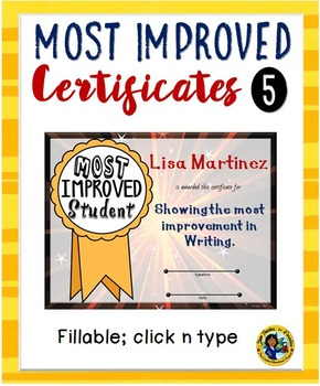 Certificates – Most Improved Awards 5